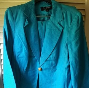 Teal size 14 Skirt suit, NWT